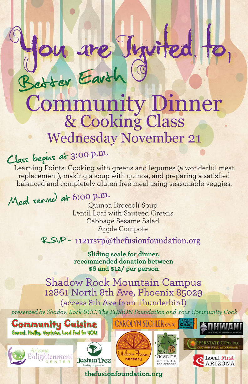 better earth community dinner