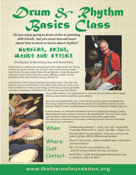 Daniel Hirtz Drum Rhythm Classes