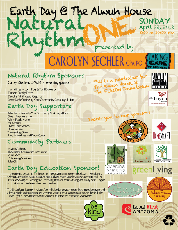 Earth Day 2012 - Alwun House Natural Rhythm One The FUSION Foundation