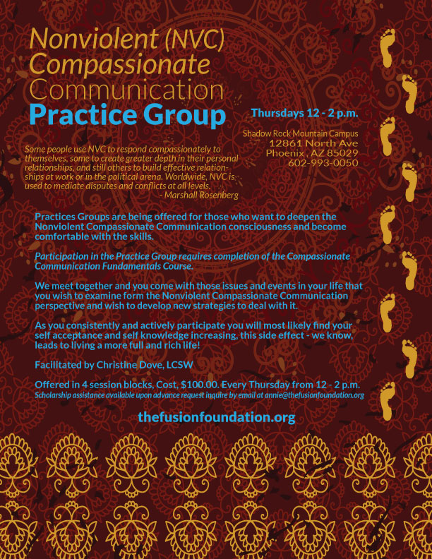 NVC Compassionate Communication Practice Group Shadow Rock FUSION Foundation
